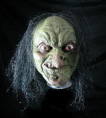 Green Evil Witch Morgana Hag Ghoulish Old Woman Adult Latex Halloween Mask