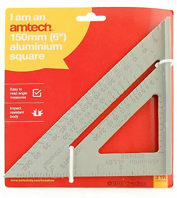"6"" 150mm Set Square Aluminium Roofing Rafter Tri-square Mitre Saw Guide"
