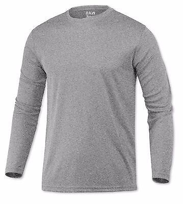 Gray Long Sleeve Shirt - Microfiber Long Sleeve UPF SPF Sun Protection Boating Fishing Shirt Heather Gray