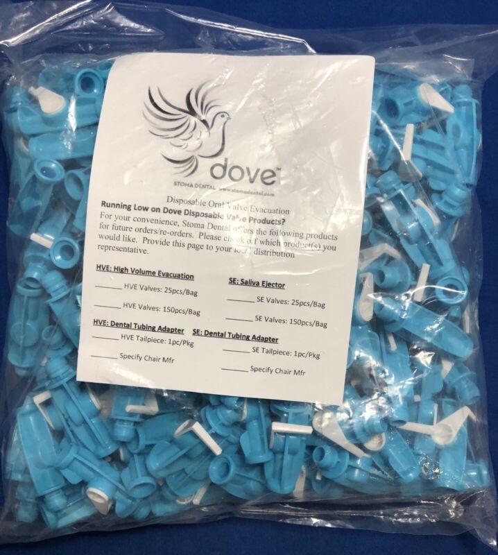 Stoma Dental Disposable Oral Valve/Saliva Ejectors - Bag of 150 - Sealed