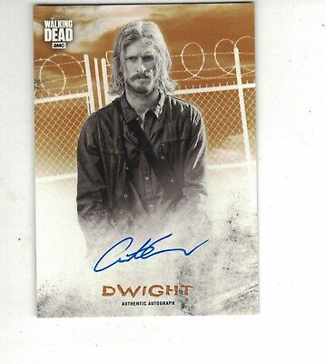 Walking Dead Hunters and the Hunted AUTOGRAPH ORANGE /99 DWIGHT AUSTIN AMELIO