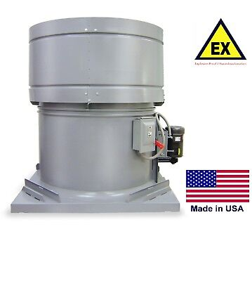 Roof Exhaust Fan - Explosion Proof - 60 - 10 Hp - 230460v - 3 Ph - 55400 Cfm