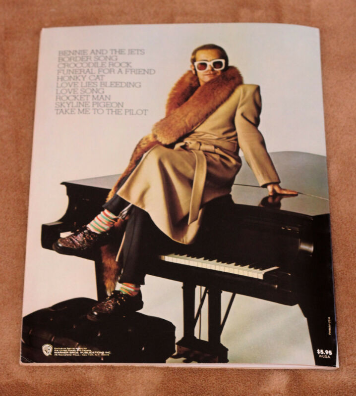 Elton John - Here And There - 1976 sheet music song book - songbook piano guitar