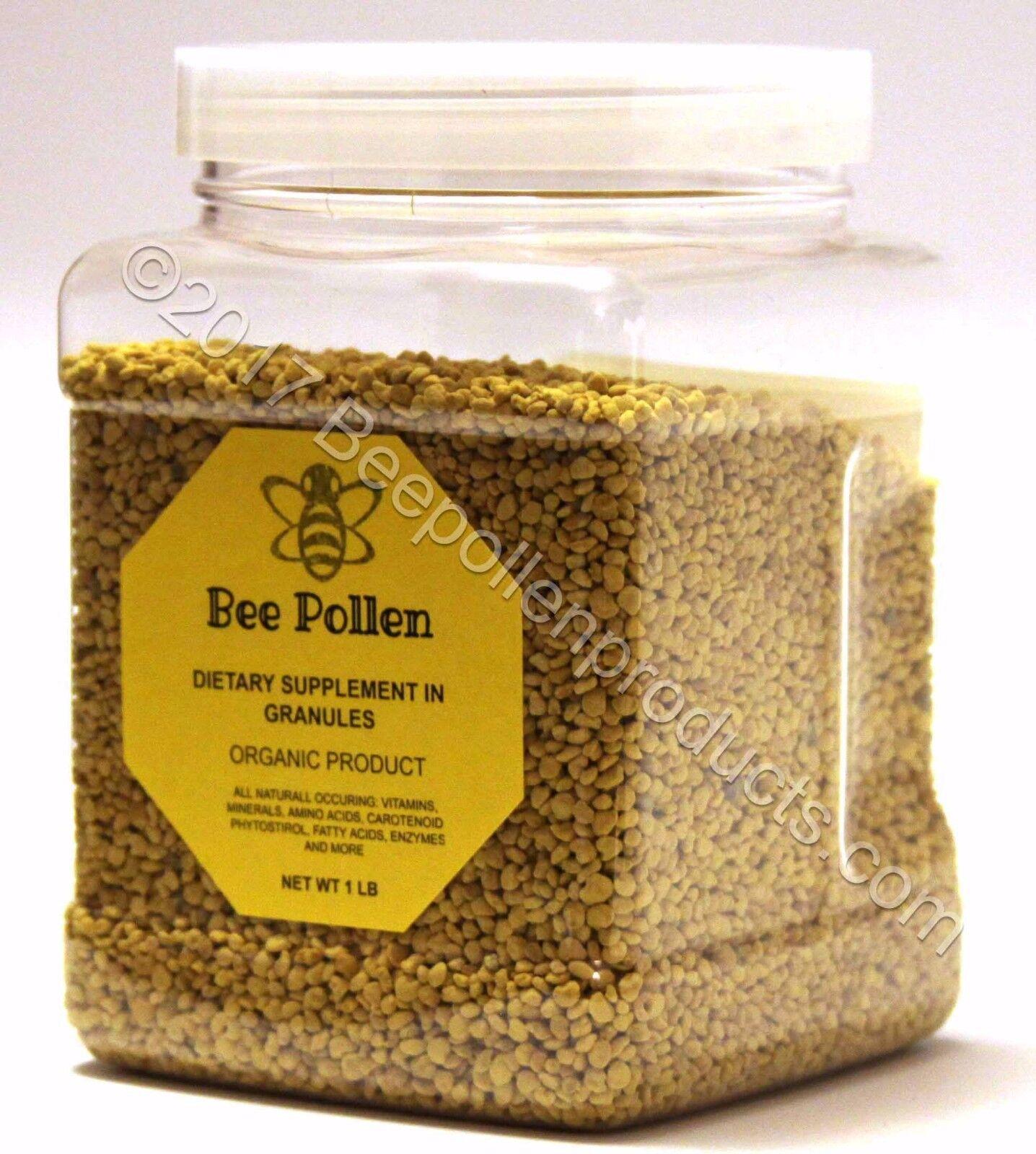 BEE POLLEN 100% Pure Natural Bee Pollen Granules 1 lb FDA Certified