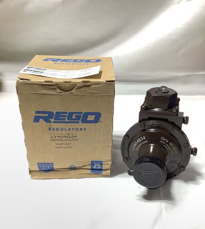 Rego LV404B34 Twin Stage Regulator ~ BRAND NEW