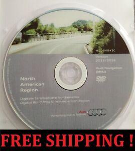 2007-2009 AUDI Q7 NORTH AMERICA 2016 NAVIGATION MMI 2G ROAD MAP UPDATE GPS .