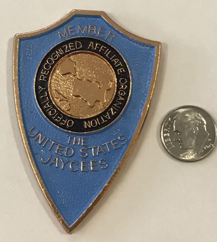 """US Jaycees Member 2.75"""" Raised Emblem . New, Never Used. Used On Plaques."""