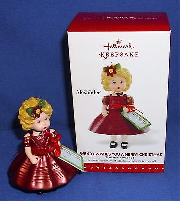 Hallmark Ornament Madame Alexander #20 2015 Wendy Wishes You a Merry Christmas