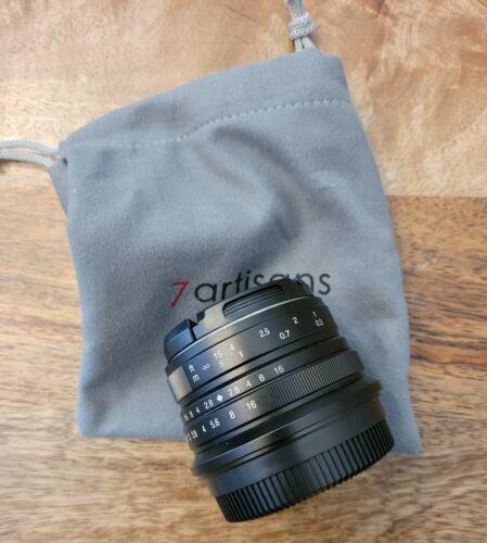 7Artisans 25MM F/1.8 APS-C Lens For Fuji Fujifilm X FX Mount - USED 1x - 5 SHOTS