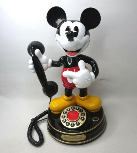 Vtg 1997 Mickey Mouse Animated Talking Telephone Disney Phone TeleMania WORKING