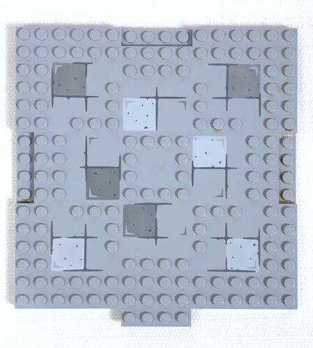 Lego ferrocarril 6x24 Studs la placa base bajo suelo blanco lokplatte
