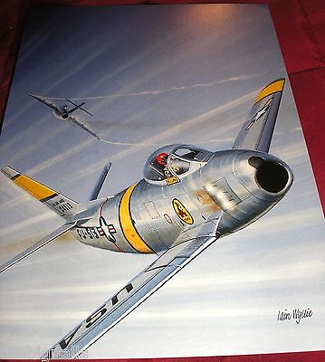 Combat Aircraft F-86F Sabre Korean War  Large Postcard