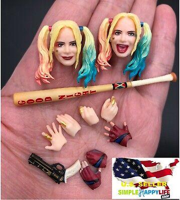 1/12 Harley Quinn head Suicide Squad w/ baseball bat for Phicen T01A T01B ❶USA❶ - Harley Quinn Bat