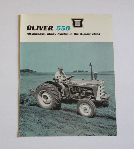 1965 Oliver 550 Tractor Brochure Gasoline Diesel