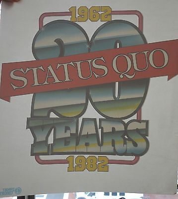 Status Quo 20th Anniversary Vintage Iron-on Transfer MINT RARE Target UK 1982