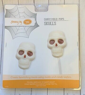 Spooky Skulls  Chocolate Candy Lollipop Mold Party Supply Favors Halloween