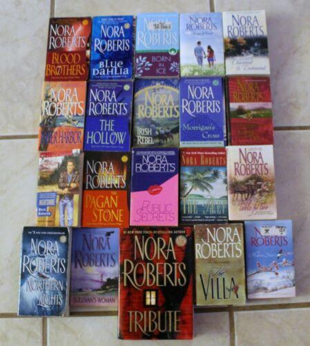 Nora Roberts Paperback Books Lot of 20 Romance Mystery Blue Dahlia Villa Hollow