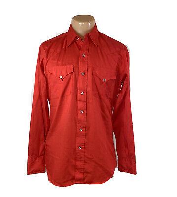 1970s Mens Shirt Styles – Vintage 70s Shirts for Guys Vintage 1970's Ely Plains ~ Men's Snap Button Red Western Shirt Size Medium M $21.00 AT vintagedancer.com