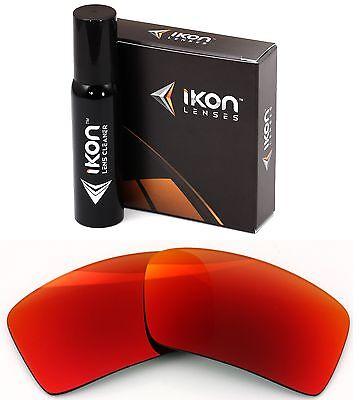 Polarisiert Ikon Iridium Ersatzgläser für Oakley Augenklappe 2 + Rot Spiegel