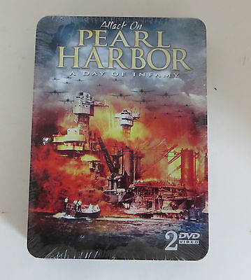 - World War II Attack On Pearl Harbor 2 DVD collection Collector Tin SEALED