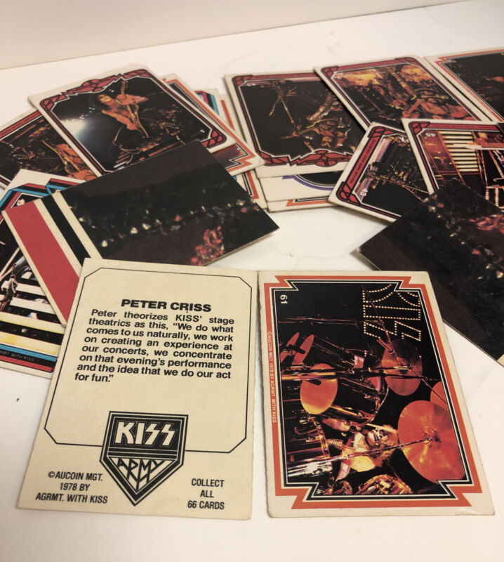 Lot Of 30 Collectible KISS Cards 1978 Rock Music Memorabilia