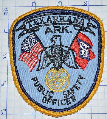 ARKANSAS, TEXARKANA PUBLIC SAFETY OFFICER POLICE PATCH