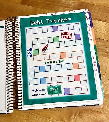 Debt Tracker Dashboard For Use With The Erin Condren Life Planner