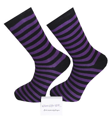 High Quality Purple and Black Stripe Socks