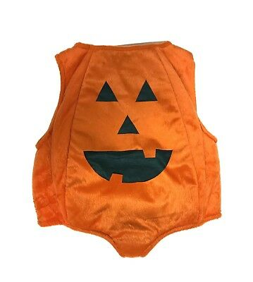 Toddler Girl or Boy Padded Pumpkin Halloween Costume, Size 2T, EUC
