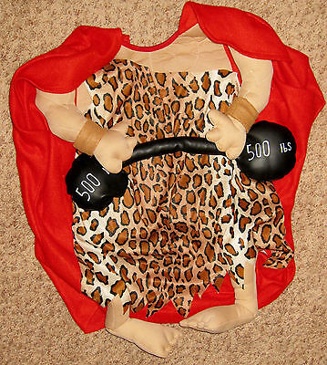Tiger Costume For Men (Red Brown Black Tiger Sixe 8-10 Cave Mussle Man Costume)