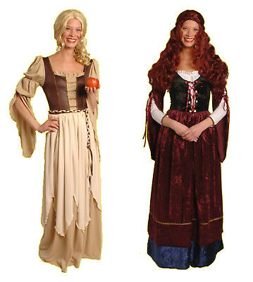 mittelalter Damen Kostüm FREIFRAU Magd JUNGFER Burgfräulein Kleid Larp - Mittelalter Kostüm