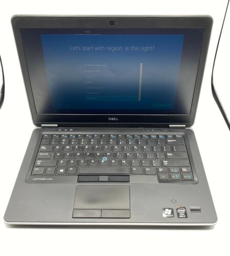 Dell E7440 Ultrabook Intel Core i7 2.1Ghz 8gb 250GB SSD Win 10 Pro -see keyboard