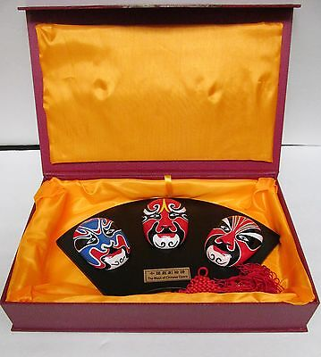 The Mask of Chinese Opera-Orient CraftsV3 Mounted Masks Wall Decor Orig Box 14x9