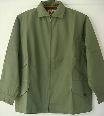 English Womens Vintage Original Grenfell Cloth Cotton Windproof Jacket Lilywhite