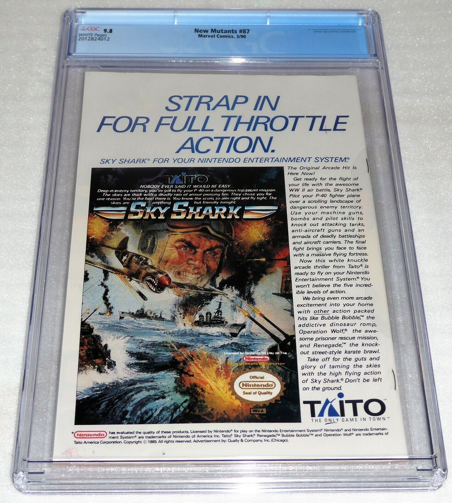New Mutants #87 1st Cable Appearance CGC Universal Grade Comic 9.8 Marvel POW 3