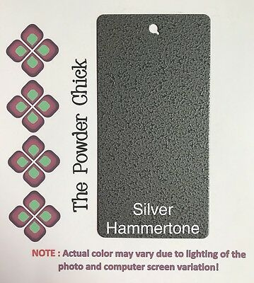 Silver Hammertone 3990020 Powder Coating Paint 1lb Bag New