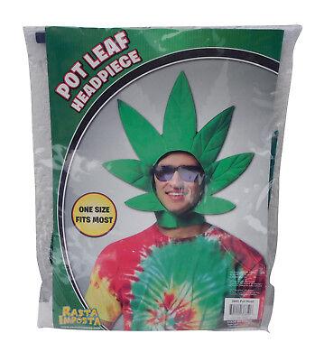 Rasta Imposta Kostüm Hanfblatt Kopfschmuck Hanf Pot Leaf Head NEU - Rasta Imposta Kostüm
