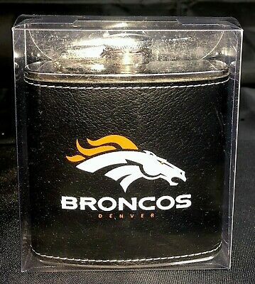 NFL Denver Broncos 6oz stainless steel hip flask Broncos Hip Flask