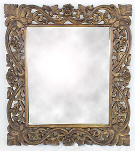 Dark Wood Mirror Ebay