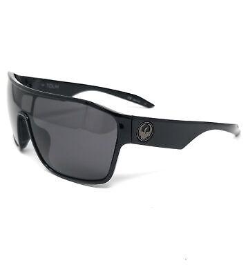 DRAGON Sunglasses TOLM 001 Shiny Black Shield Men's 47x20x145
