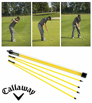Callaway Golf Alignment Sticks 2 X Portable Rods , Putting , Ball Striking Aid
