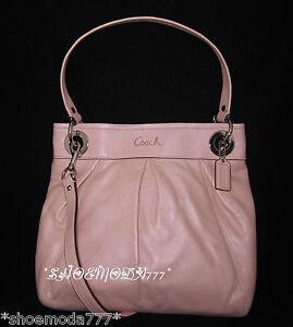 $298 Coach Ashley Leather Hippie Bag Purse Handbag ...