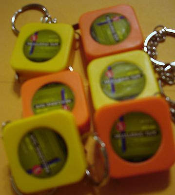 3 Ft Measuring Tape Keychains ( Lot Of 24 ) 1m/3ft Plastic