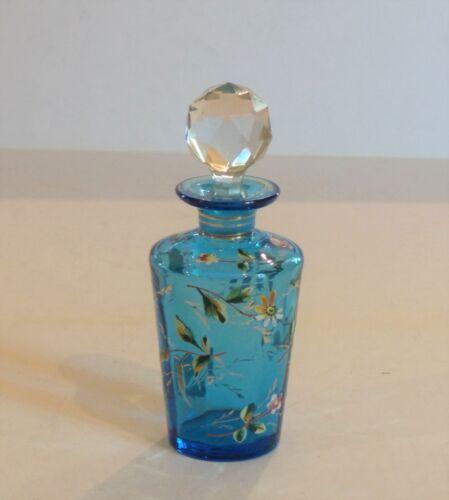 MOSER Enameled Art Glass Perfume Bottle, c. 1885