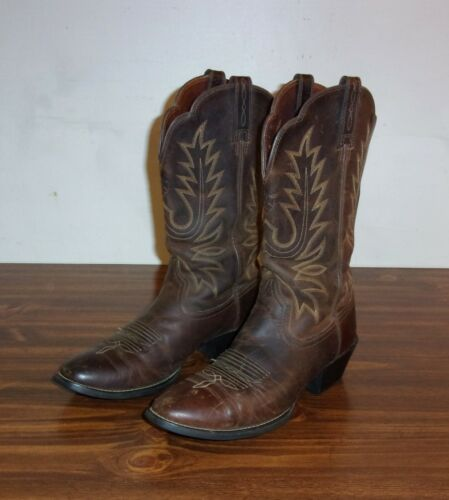 Ladies ARIAT Milk-Chocolate Brown Leather Western Cowboy Boots Size 7.5B SWEET