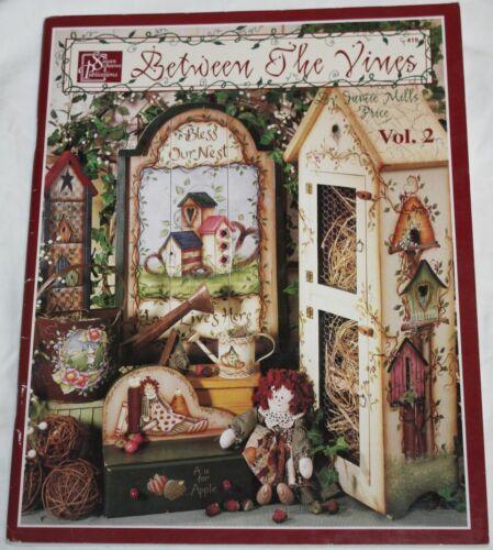 BETWEEN THE VINES Vol. 2  Decorative Tole Painting Book 419 Birdhouses Snowmen