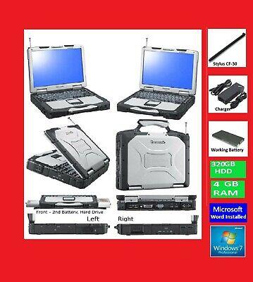 Panasonic CF-30 Laptop-Notebook. Rugged Strong+Windows 7+Touchscreen+Stylus+Wifi
