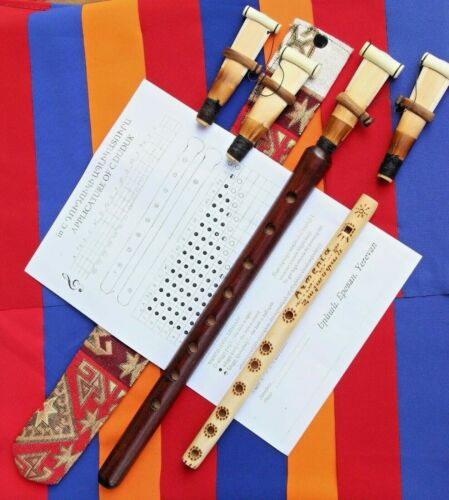 PERSONALISED ARMENIAN DUDUK PRO Apricot Wood +4Reed+case+instruction