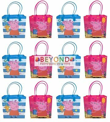 Peppa  Pig Goody Bags, Peppa Pig Party Favor Goodie Bags Gift Bags Birthday  (Peppa Birthday)