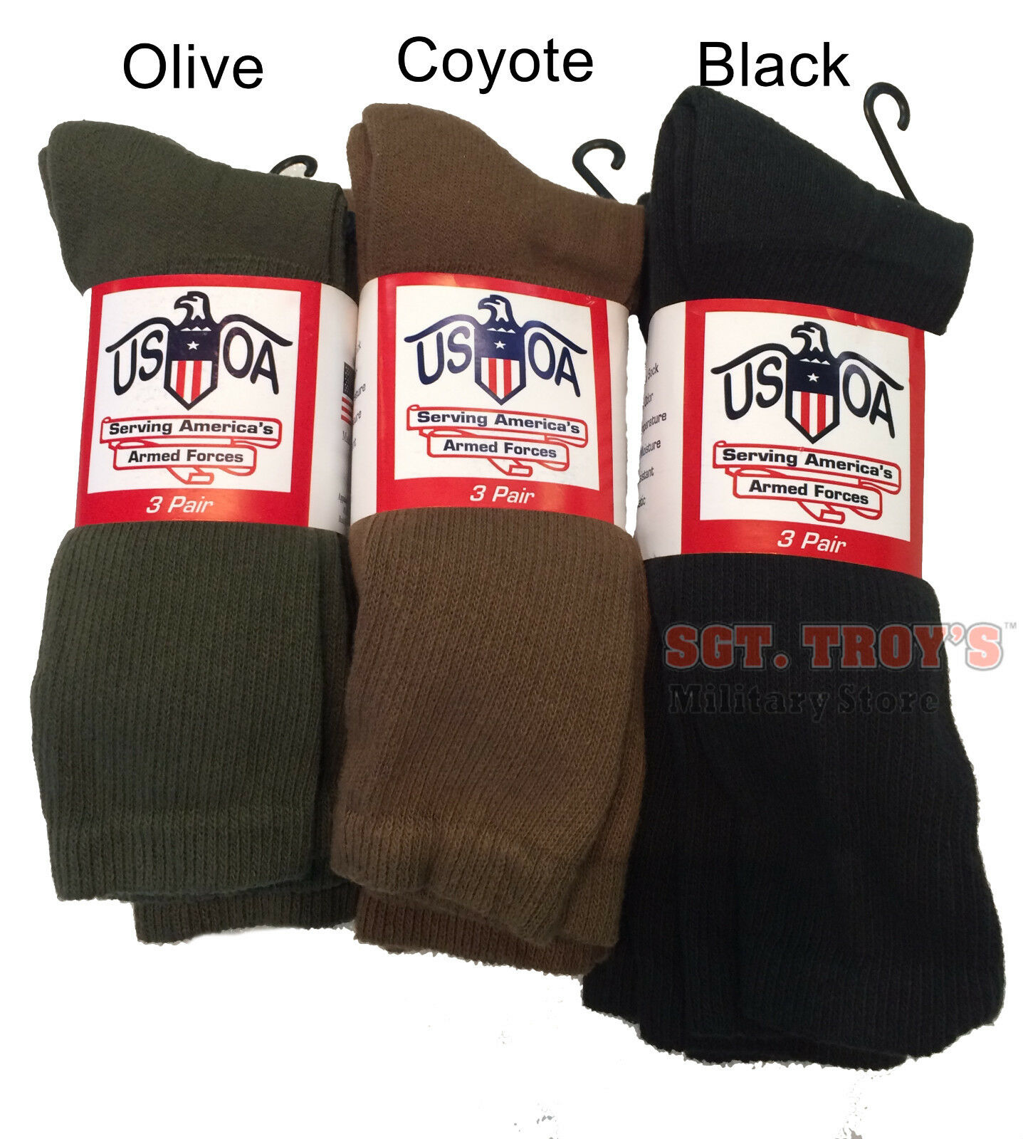 usoa military boot socks mens calf length